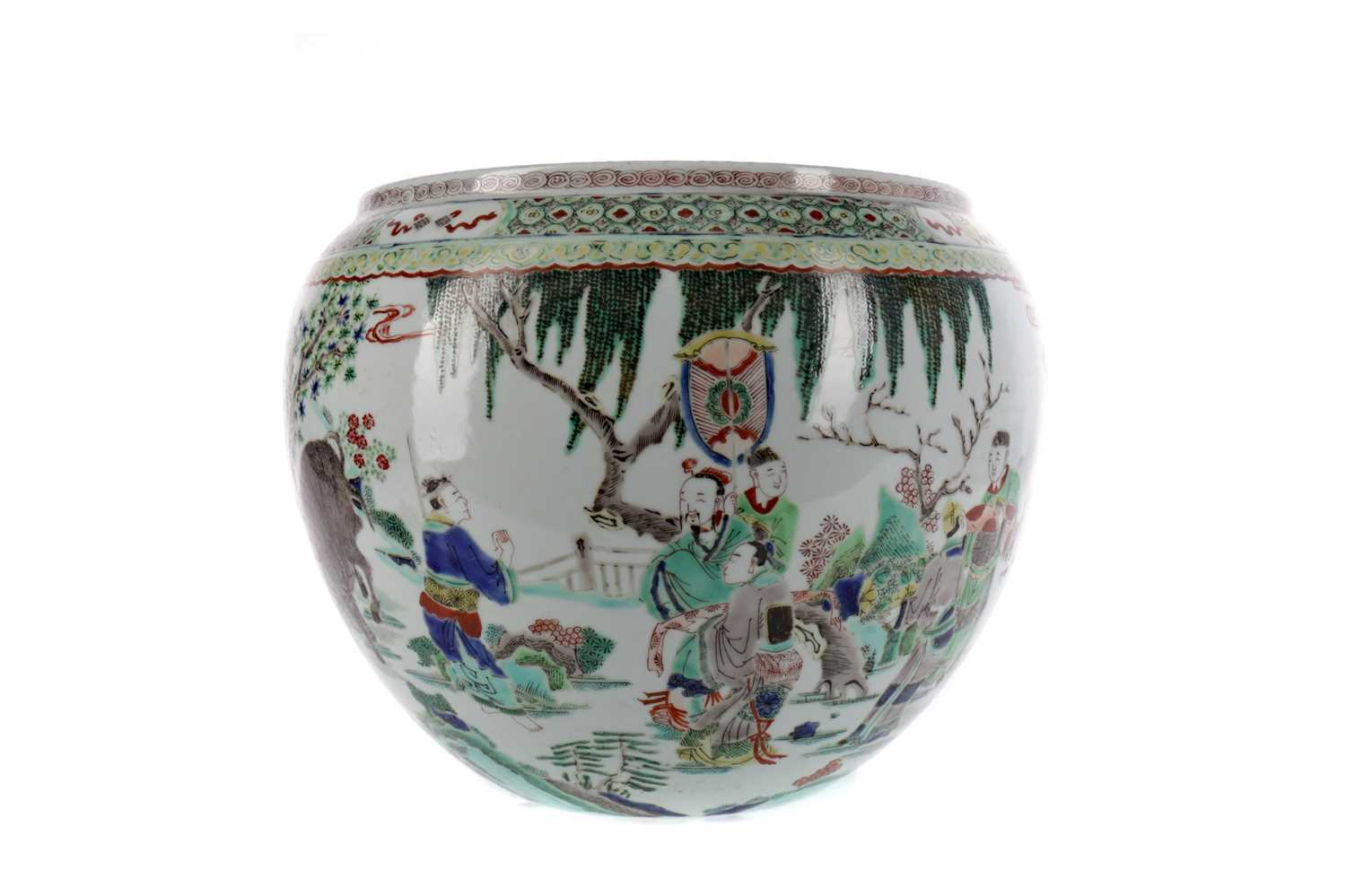 Lot 704 - A CHINESE FAMILLE VERTE PLANTER
