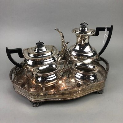 Lot 42 - A SILVER PLATED TEA AND COFFEE SERVICE