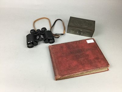 Lot 51 - A PAIR OF CASED FIELD GLASSES, ALONG WITH OTHER RELATED EPHEMERA