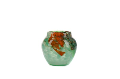 Lot 1006 - AN EARLY 20TH CENTURY MONART GLASS VASE