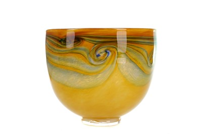 Lot 1009 - A CAITHNESS YELLOW GROUND GLASS BOWL