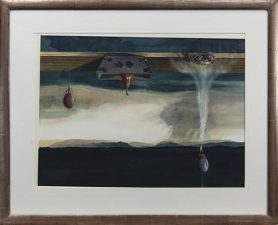 Lot 532 - A BALANCED POINT OF VIEW,  A WATERCOLOUR BY ANGUS MCEWAN