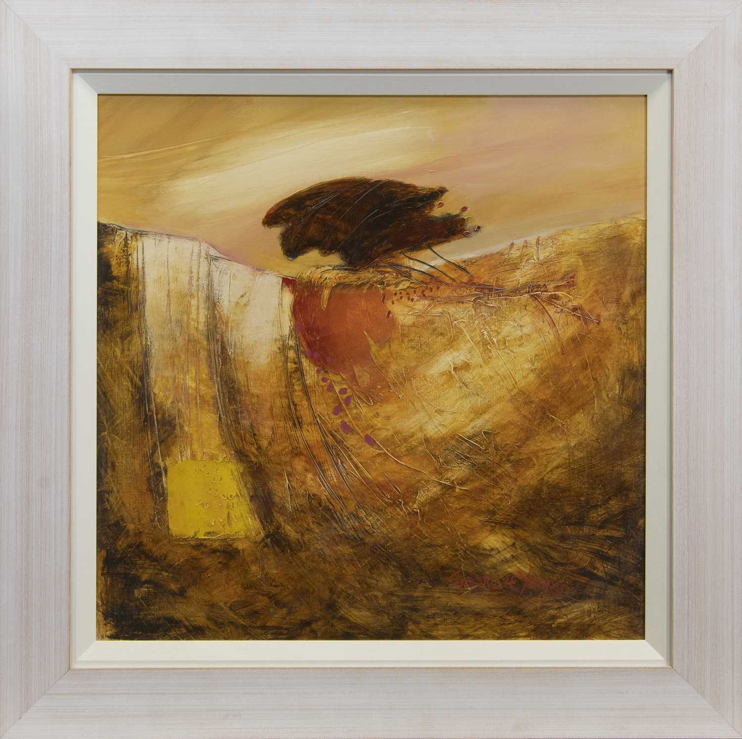 Lot 536 - BLUSTERY, AN ACRYLIC BY GEORGIE YOUNG