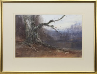 Lot 577 - THE LONLEY BRANCH, A MIXED MEDIA BY IAIN ROSS
