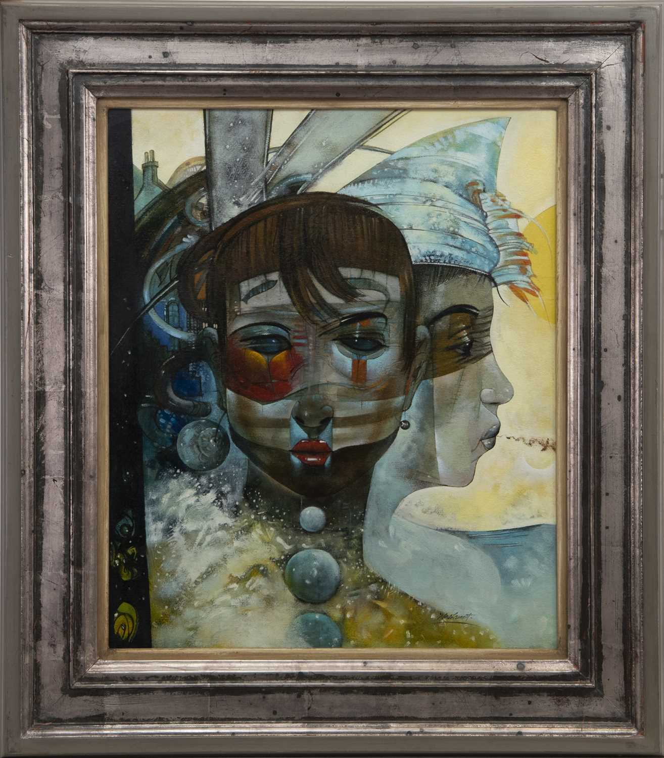 Lot 548 - CURTAIN CALL, AN OIL BY NEIL LAMONT