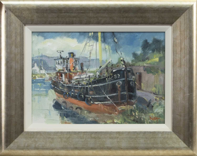 Lot 564 - VIC 32, CRINAN, AN OIL BY JAMES WATT