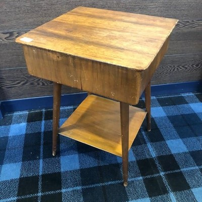 Lot 72 - A MID CENTURY REMPLOY TEAK SIDE TABLE