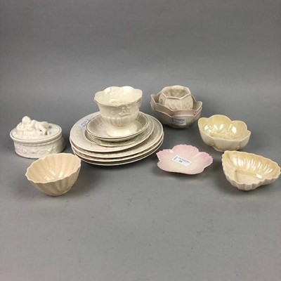 Lot 53 - A LOT OF BELLEEK PLATES AND DISHES