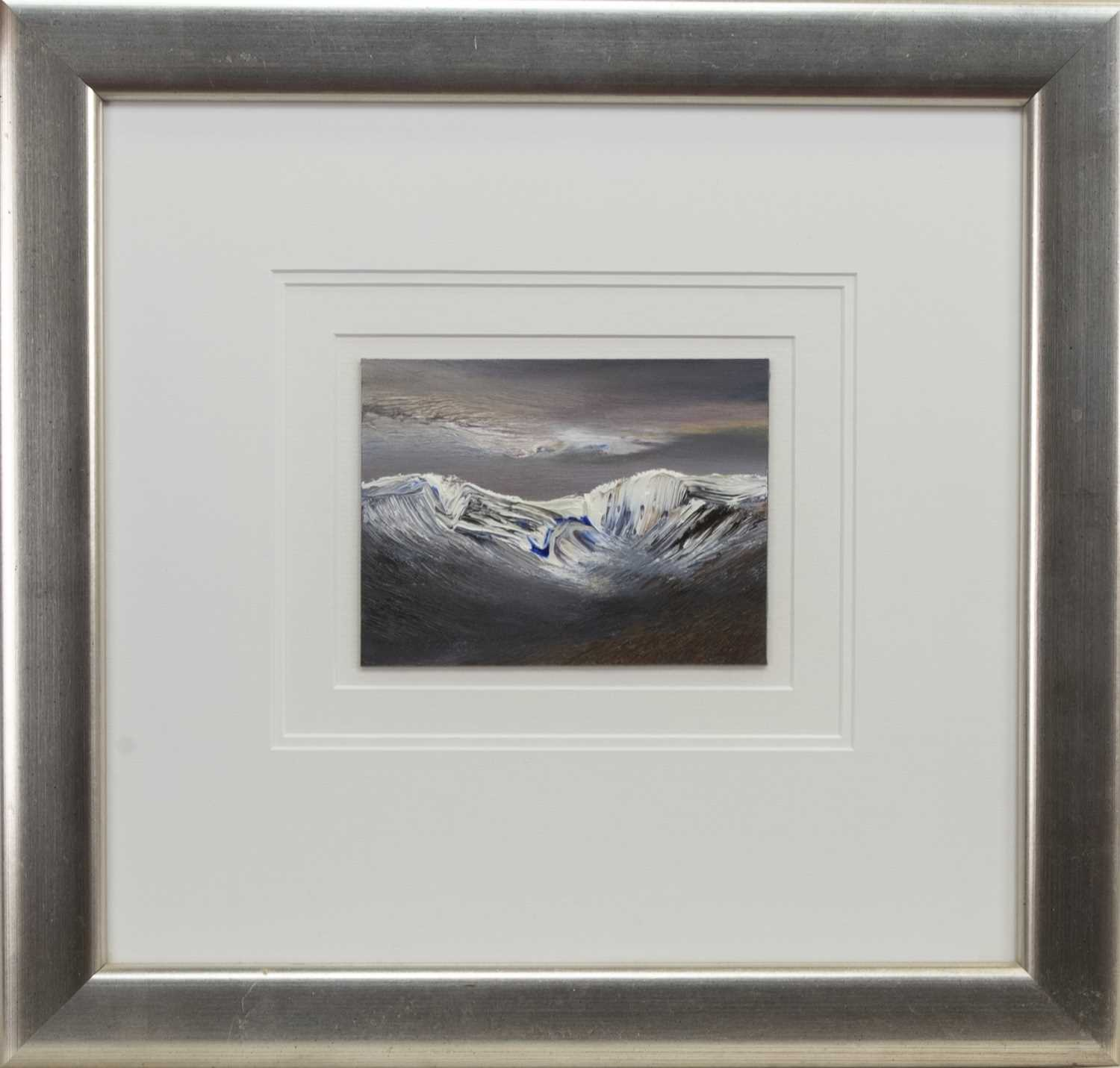 Lot 567 - LATE SNOW, LAGGAN. AN OIL BY PETER GOODFELLOW