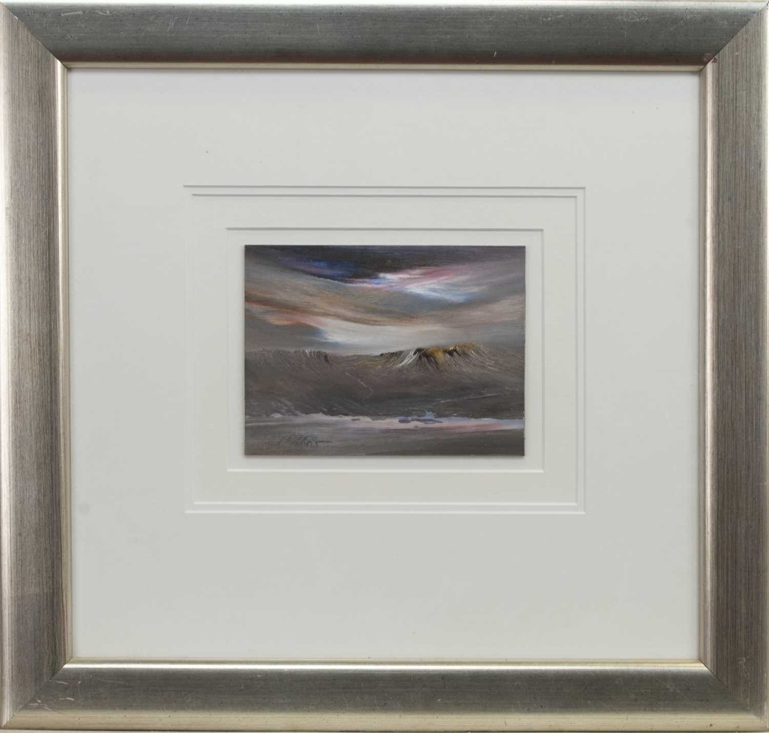 Lot 568 - BLUSTERY SKIES, AN OIL BY PETER GOODFELLOW