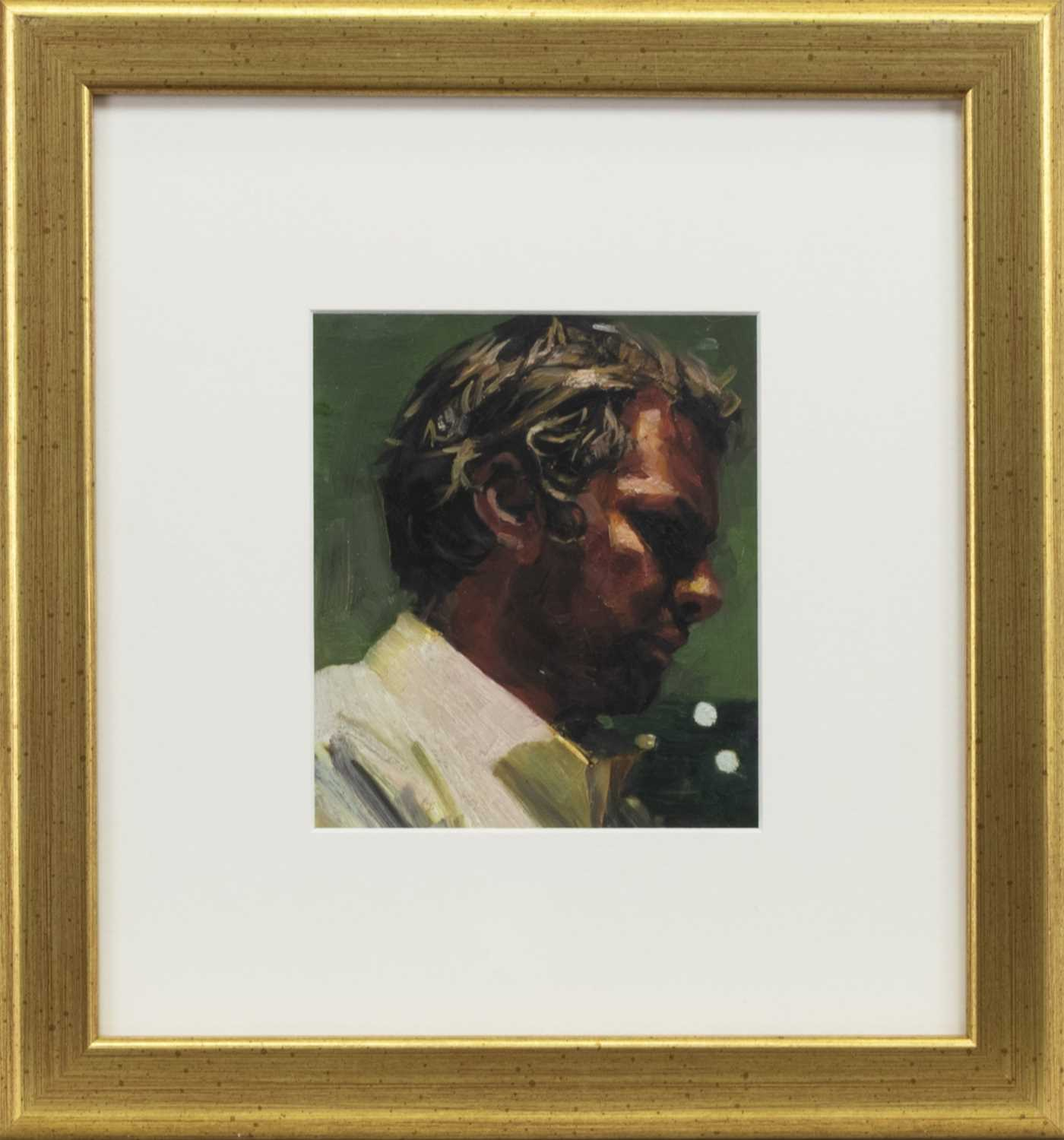 Lot 572 - A CONTEMPLATIVE MOMENT, AN OIL BY BEN DAVIS JENKINS
