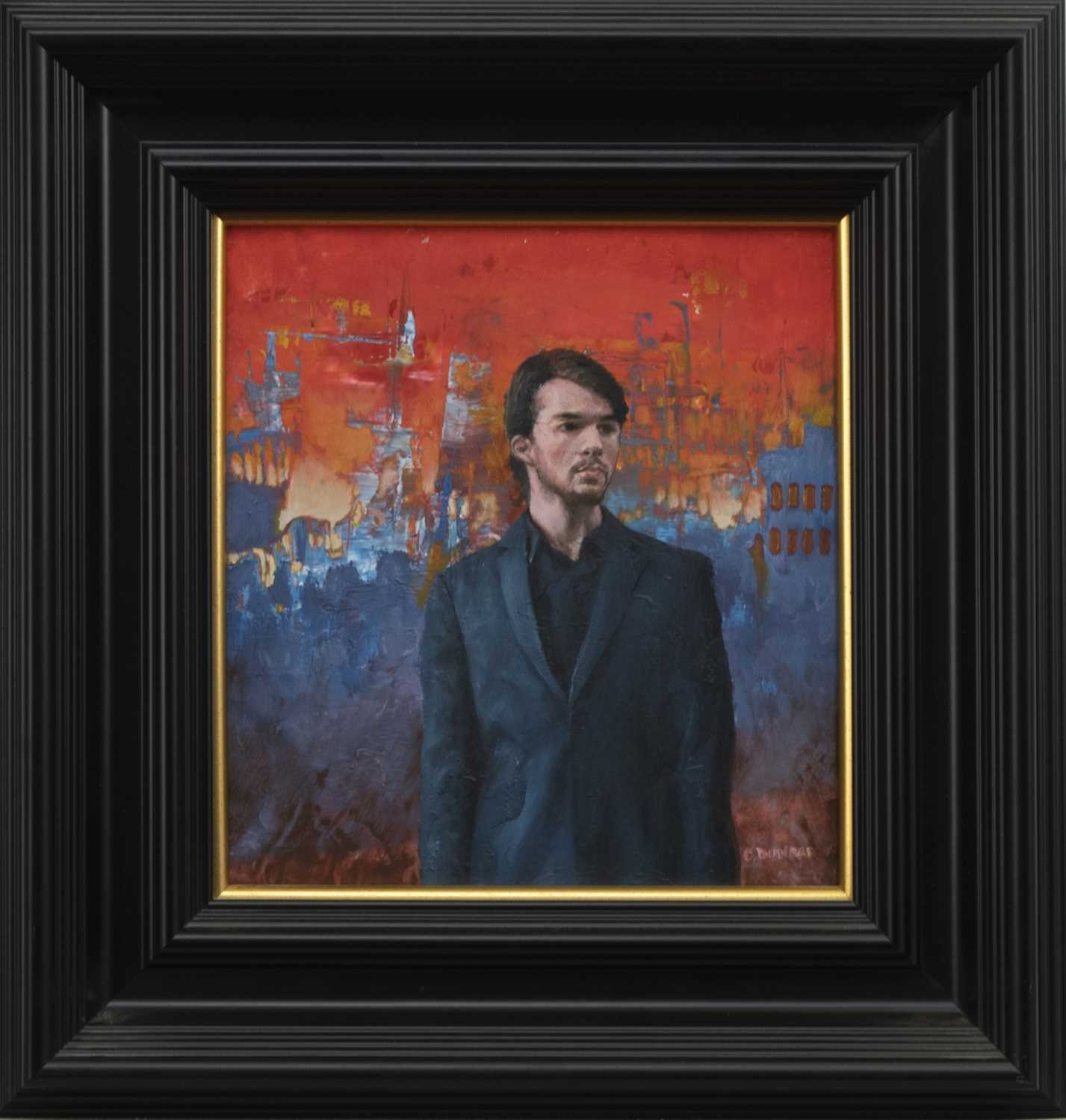 Lot 578 - STANDING OUT, AN OIL BY COLIN DUNBAR