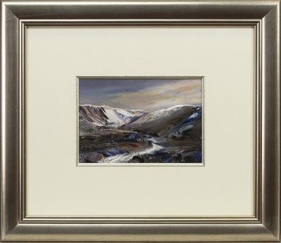 Lot 580 - THE MELTING SNOW, AN OIL BY PETER GOODFELLOW