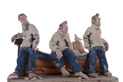Lot 594 - ON THE DOCKS, A SCULPTURE BY RONNIE FULTON