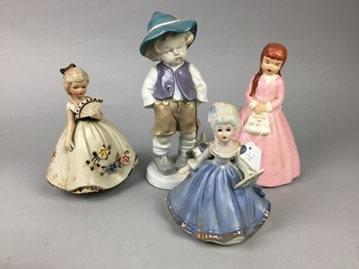 Lot 77 - A LOT OF CERAMIC FIGURES AND DOLLS
