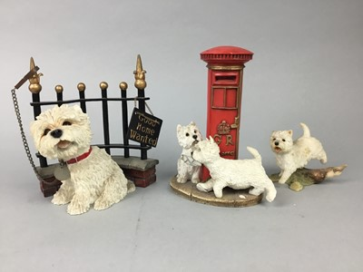 Lot 76 - A LOT OF LEONARDO COLLECTION AND OTHER SCOTTISH TERRIER FIGURES