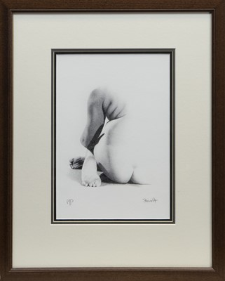 Lot 83 - NUDE STUDY, A PRINT BY LEE STEWART