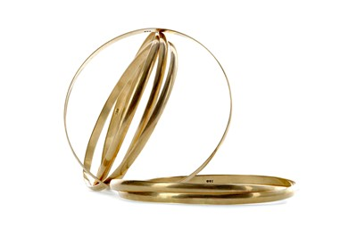 Lot 1381 - TWO GOLD MULTI BANGLES
