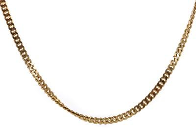 Lot 1401 - NINE CARAT GOLD CURB LINK CHAIN
