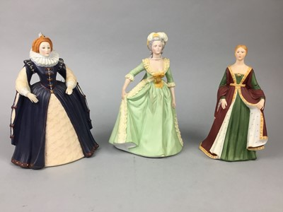 Lot 38 - A LOT OF THREE FRANKLIN MINT FIGURES OF LADIES
