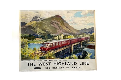 Lot 1692 - BRITISH RAILWAYS - THE WEST HIGHLAND LINE POSTER