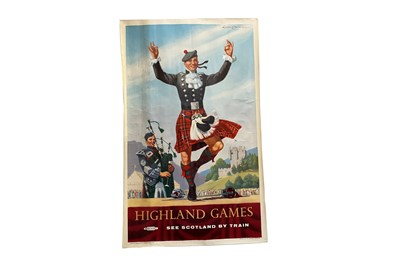 Lot 1694 - BRITISH RAILWAYS - HIGHLAND GAMES POSTER