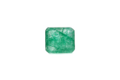 Lot 1491 - A CERTIFICATED UNMOUNTED EMERALD