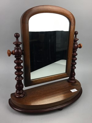 Lot 35 - A LATE VICTORIAN MAHOGANY DRESSING TABLE MIRROR