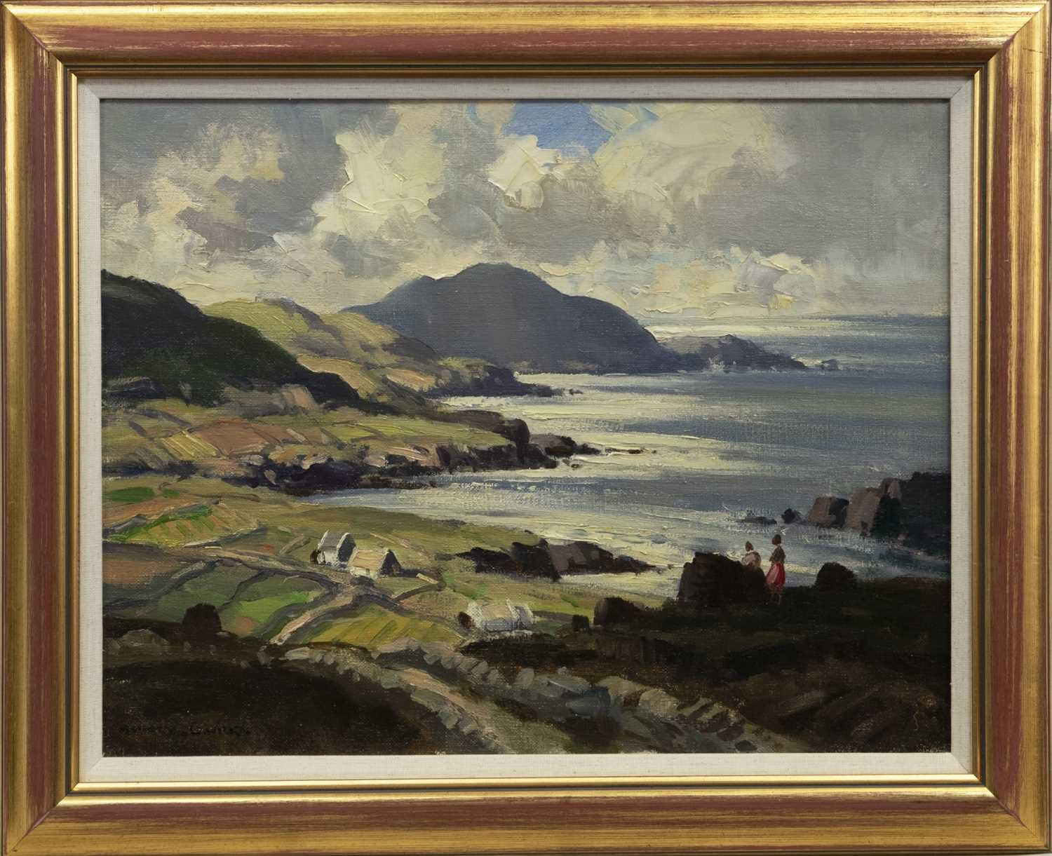 Lot 58 - EVENING LIGHT, BALLINSKELLIGS BAY, AN OIL BY MAURICE CANNING WILKS