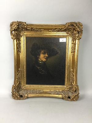 Lot 99 - A FRAMED PRINT IN THE STYLE OF THE OLD MASTERS