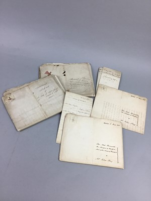 Lot 36 - A LOT OF 19TH CENTURY DOCUMENTS