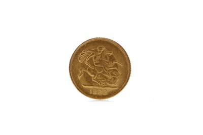Lot 13 - A GOLD QUARTER SOVEREIGN DATED 1922