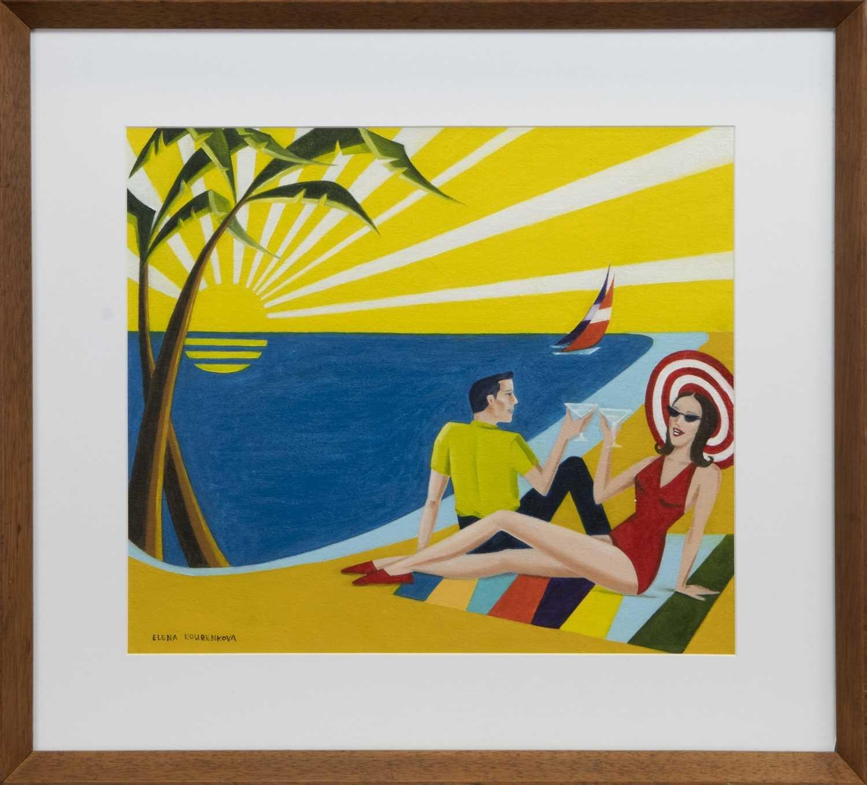 Lot 539 - HAPPY MEMORIES, AN OIL BY ELENA KOURENKOVA