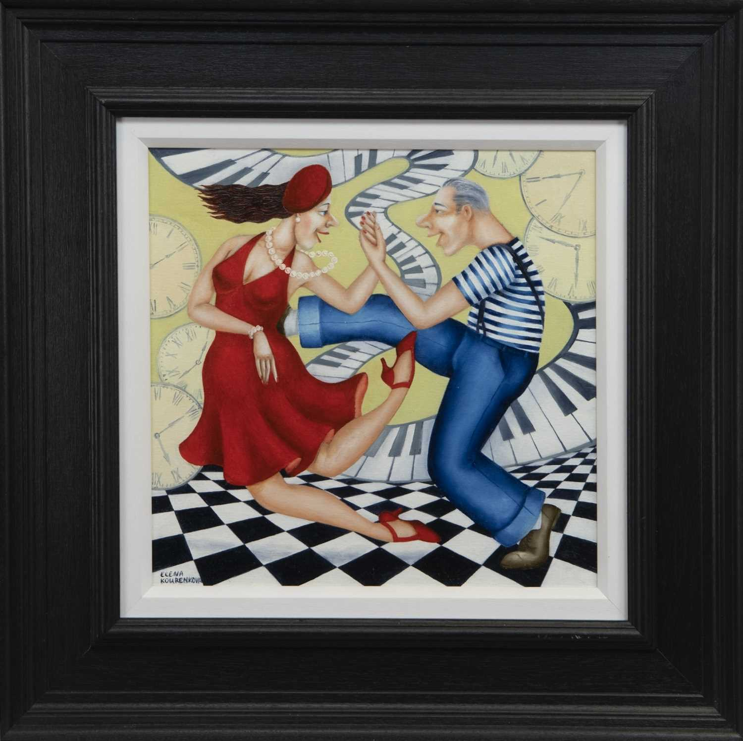 Lot 541 - YOU MAKE MY PANTS WANT TO GET UP AND DANCE, AN OIL BY ELENA KOURENKOVA