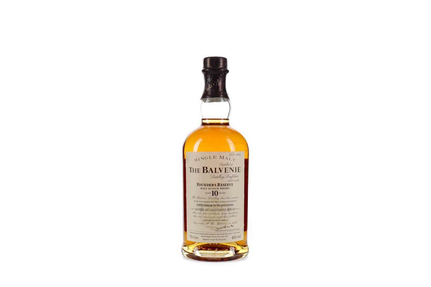 Lot 22 - BALVENIE FOUNDER'S RESERVE AGED 10 YEARS