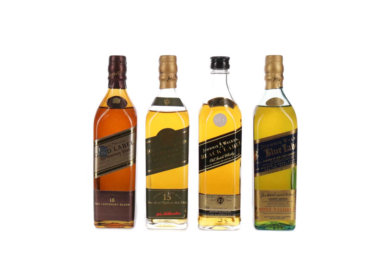 Lot 38 - THE JOHNNIE WALKER COLLECTION (4X20CL)