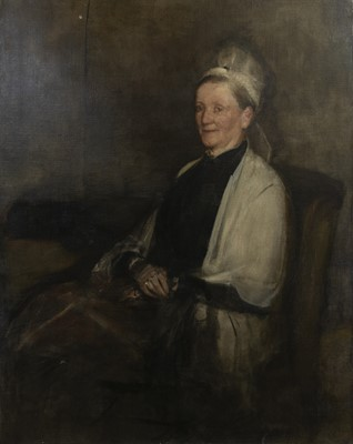 Lot 60 - THE PORTRAIT OF MRS MACLEHOSE,  AN OIL BY SIR JAMES GUTHRIE