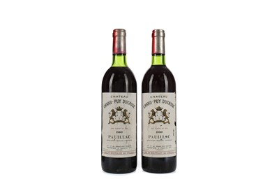 Lot 49 - TWO BOTTLES OF CHATEAU GRAND PUY DUCASSE 1980