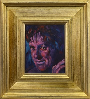 Lot 599 - PORTRAIT OF PETER HOWSON, AN OIL BY DAVID ROBERTSON