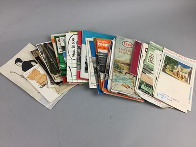 Lot 18 - A LOT OF MID-20TH CENTURY LINER PROGRAMMES