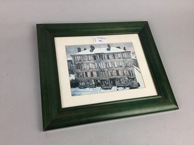 Lot 91 - WINDOWS IN THE WEST, A COLOUR PRINT AFTER AVRIL PATON, AND ANOTHER