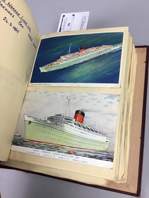 Lot 96 - SHIPPING INTEREST - AN ALBUM OF SHIPPING POSTCARDS