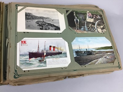 Lot 97 - A LOT OF TWO EARLY 20TH CENTURY POSTCARD ALBUMS