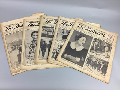 Lot 101 - ROYAL INTEREST - A COLLECTION OF BULLETIN NEWSPAPERS AND OTHERS