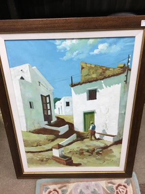 Lot 6A - A LOT OF FRAMED OIL PAINTINGS