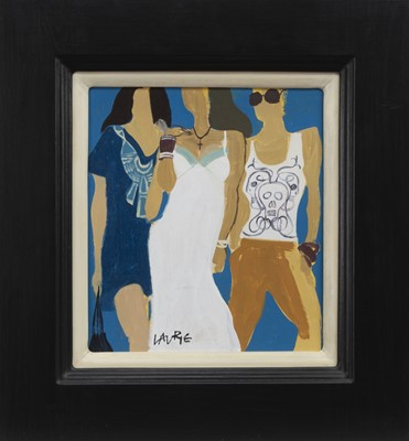 Lot 625 - THREE WOMEN, AN OIL BY SIMON LAURIE