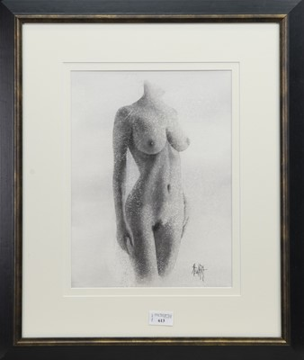 Lot 613 - NUDE STUDY, A WATERCOLOUR BY LEE STEWART