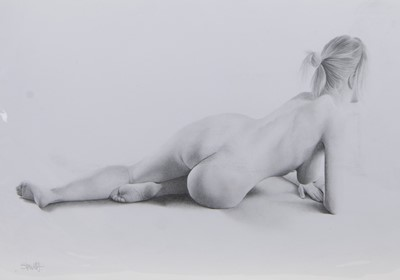 Lot 610 - FOUR NUDE PENCIL SKETCHES BY LEE STEWART