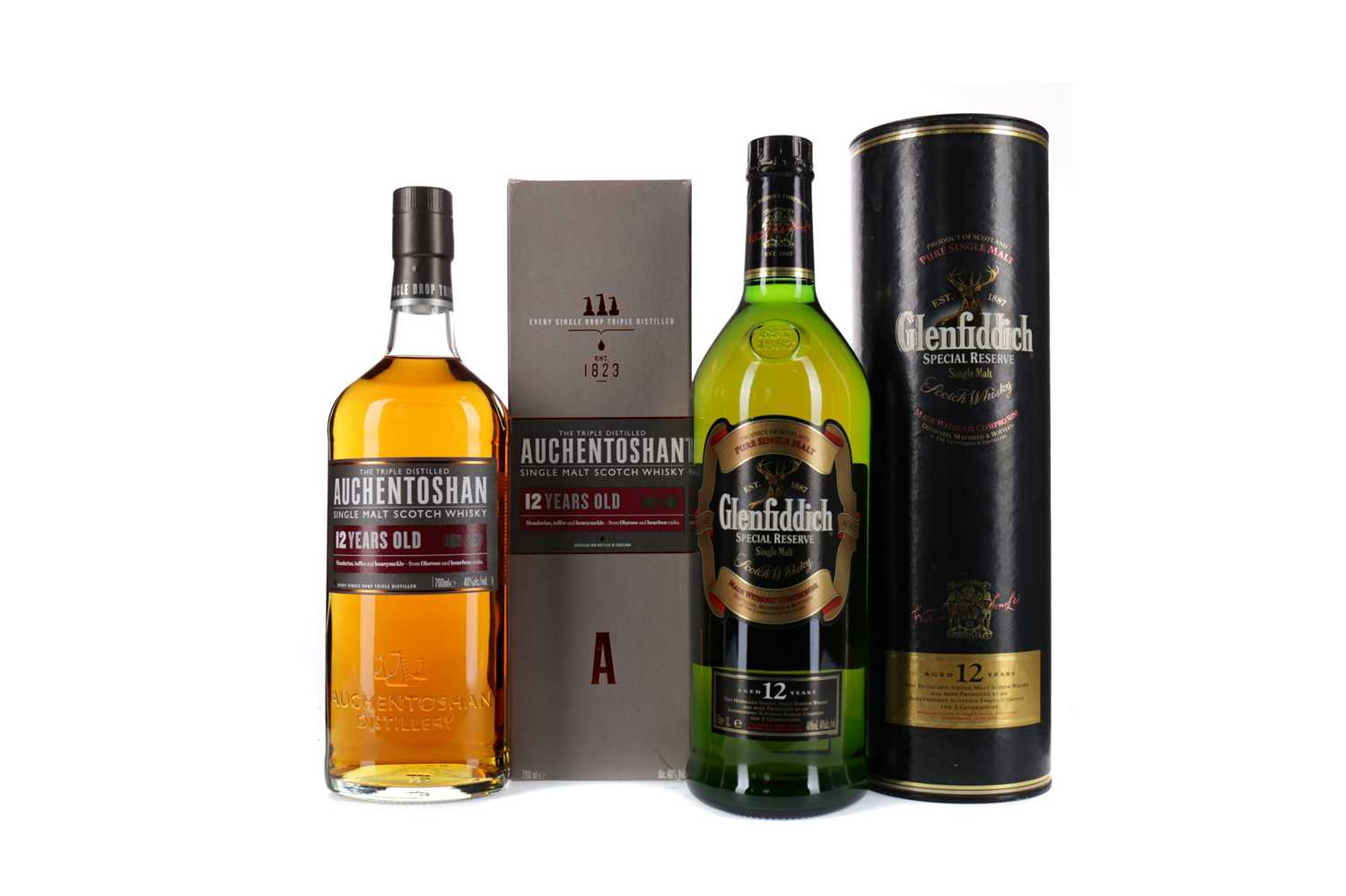 Lot 46 - GLENFIDDICH SPECIAL RESERVE AGED 12 YEARS AND AUCHENTOSHAN 12 YEARS OLD