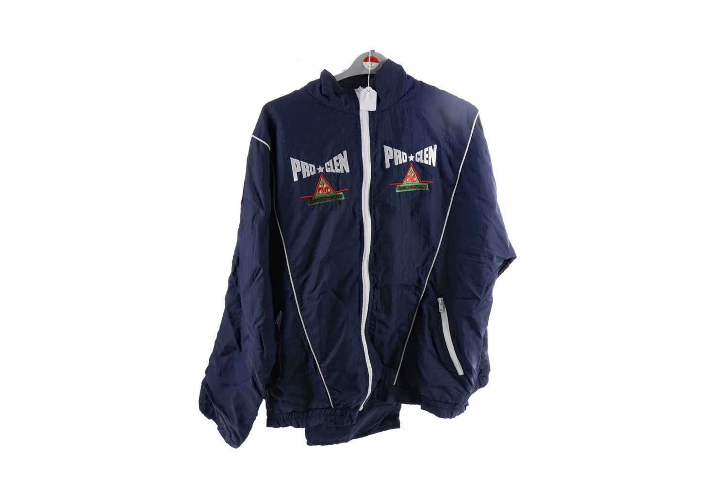 Lot 1708 - A TRACKSUIT SAID TO HAVE BEEN WORN BY CHRIS EUBANK
